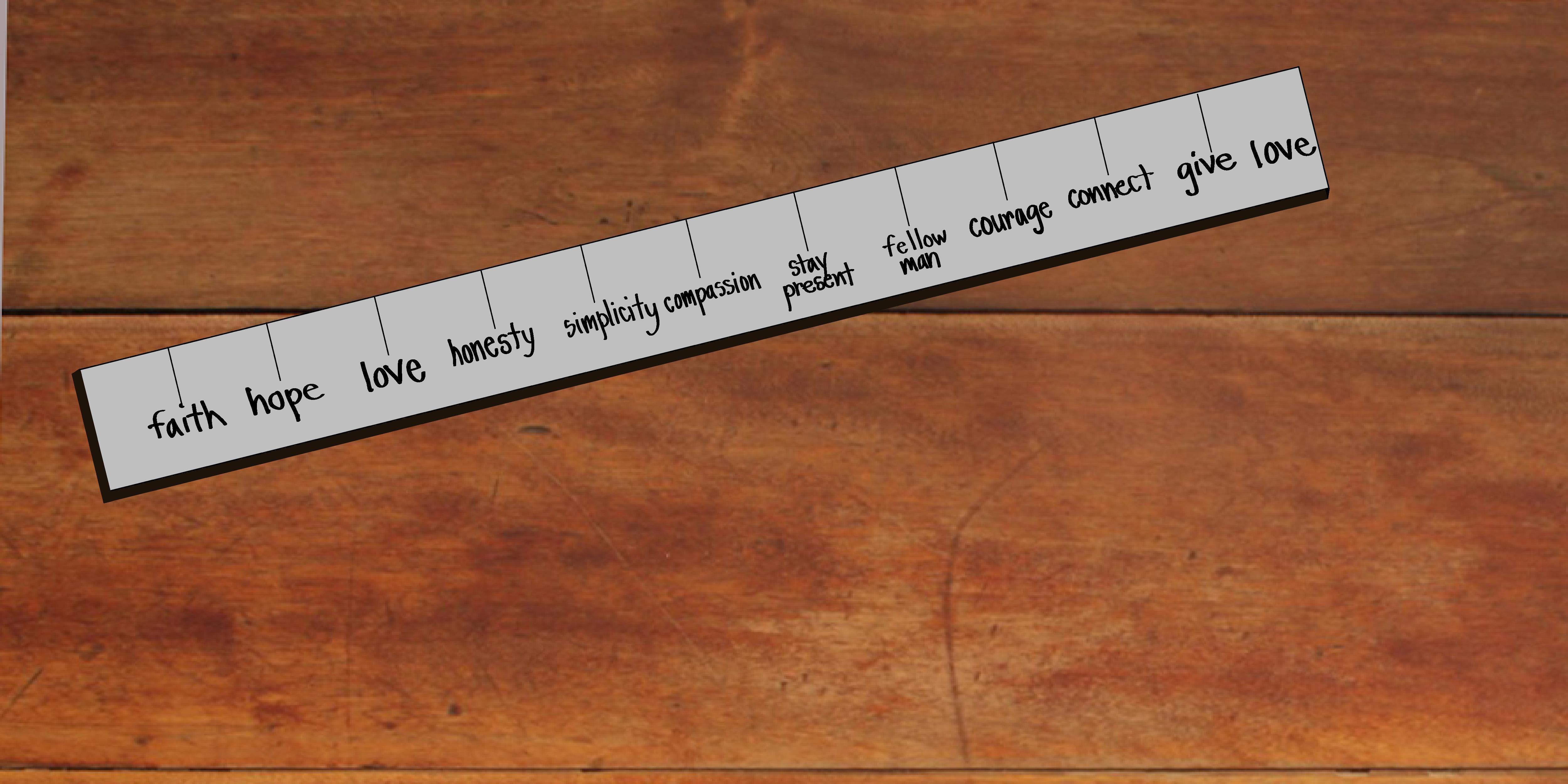 measuring stick & filter